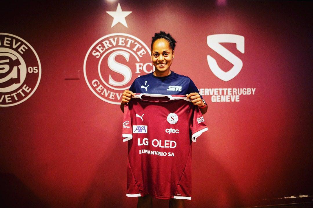 Jade Boho Sayo, firma con las vigentes campeonas de la liga suiza