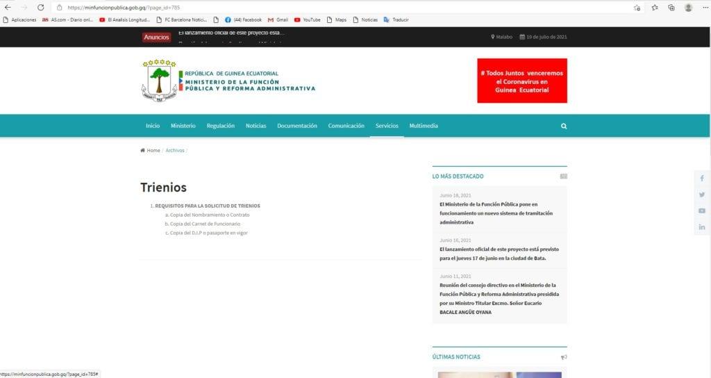 Función Pública ha procesado 8 trámites online desde el lanzamiento oficial de la página hace un mes