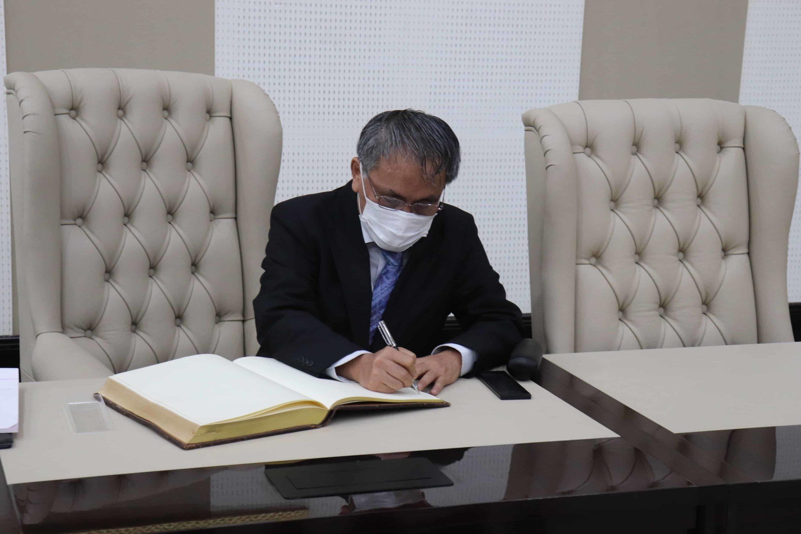 Los nuevos embajadores de Japón, Argelia y la Unión Europea en Guinea Ecuatorial presentan sus Cartas de Estilo al Ministro de Exteriores