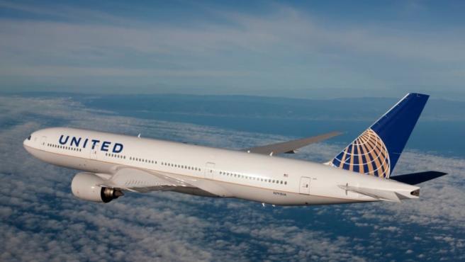 Avión de United Airlines. United Airlines