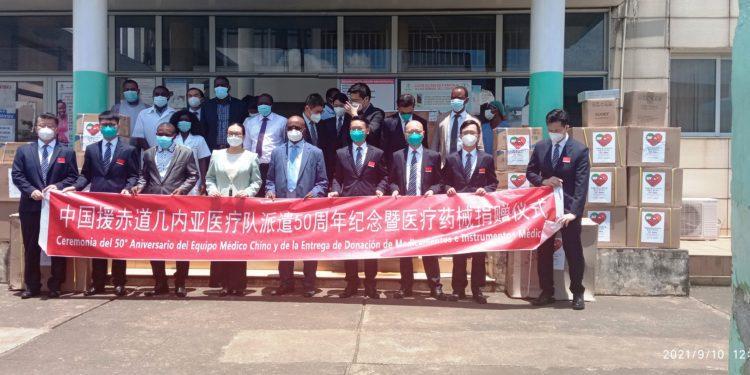 Conmemoración del 50 aniversario de la brigada médica china en Guinea Ecuatorial