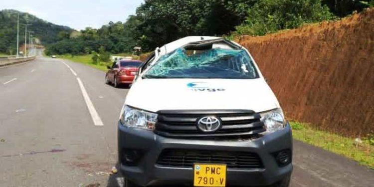 El periodista David Monsuy sobrevive de un brutal accidente de circulación
