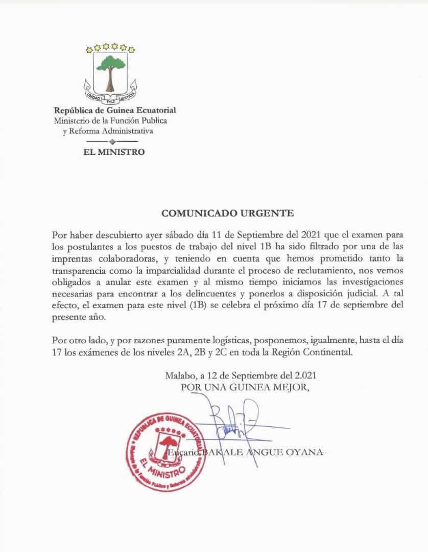ÚLTIMA HORA: Se suspenden los examenes para el reclutamiento de 4000 funcionarios en el nivel 1B por filtraciones